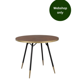 Eettafel rond - Walnut & Gold