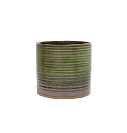 Bloempot Groen/Bruin