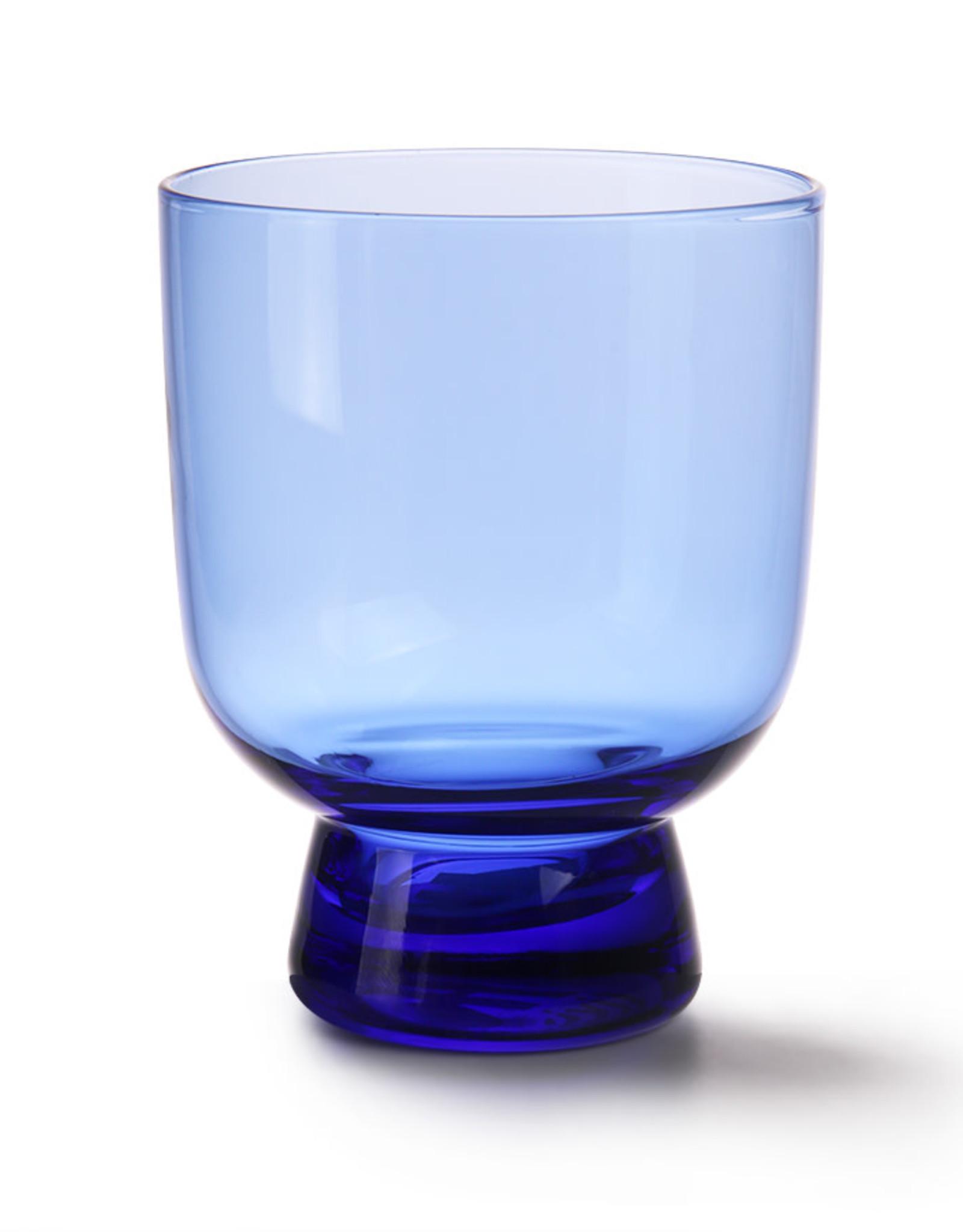 Glas op voetje - Cobalt
