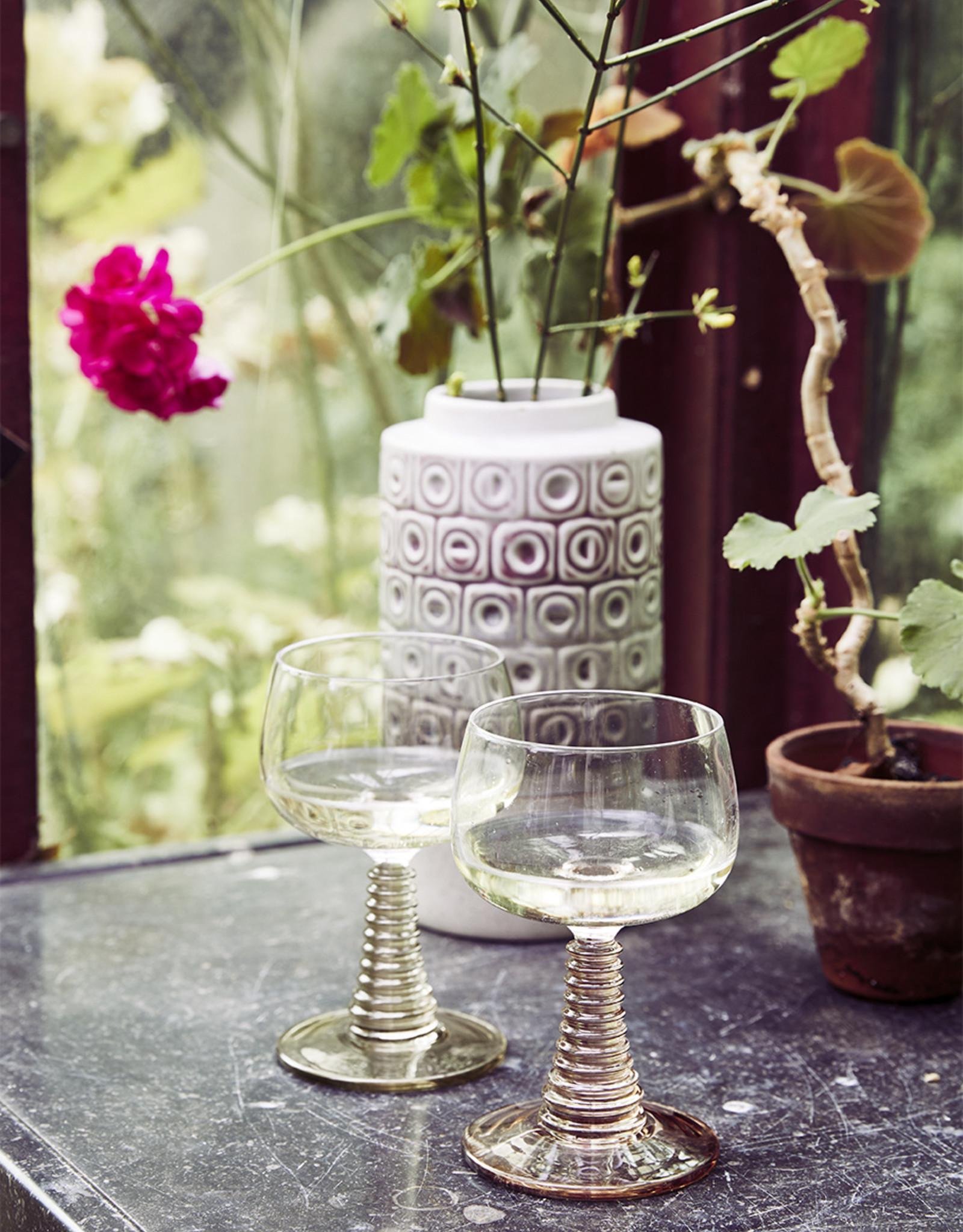 Wijnglas Swirl Pink