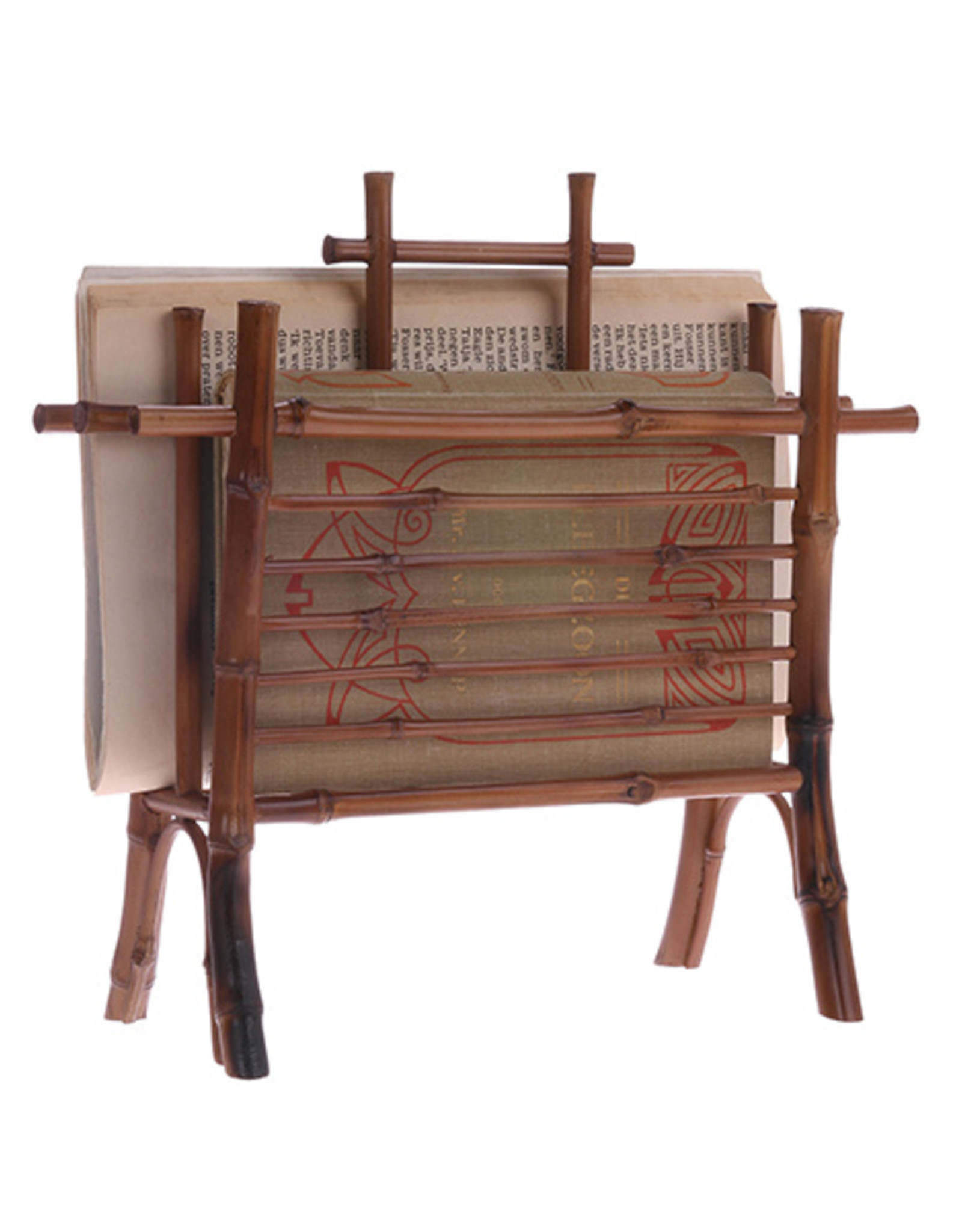 Brieven/boekenrekje in bamboe