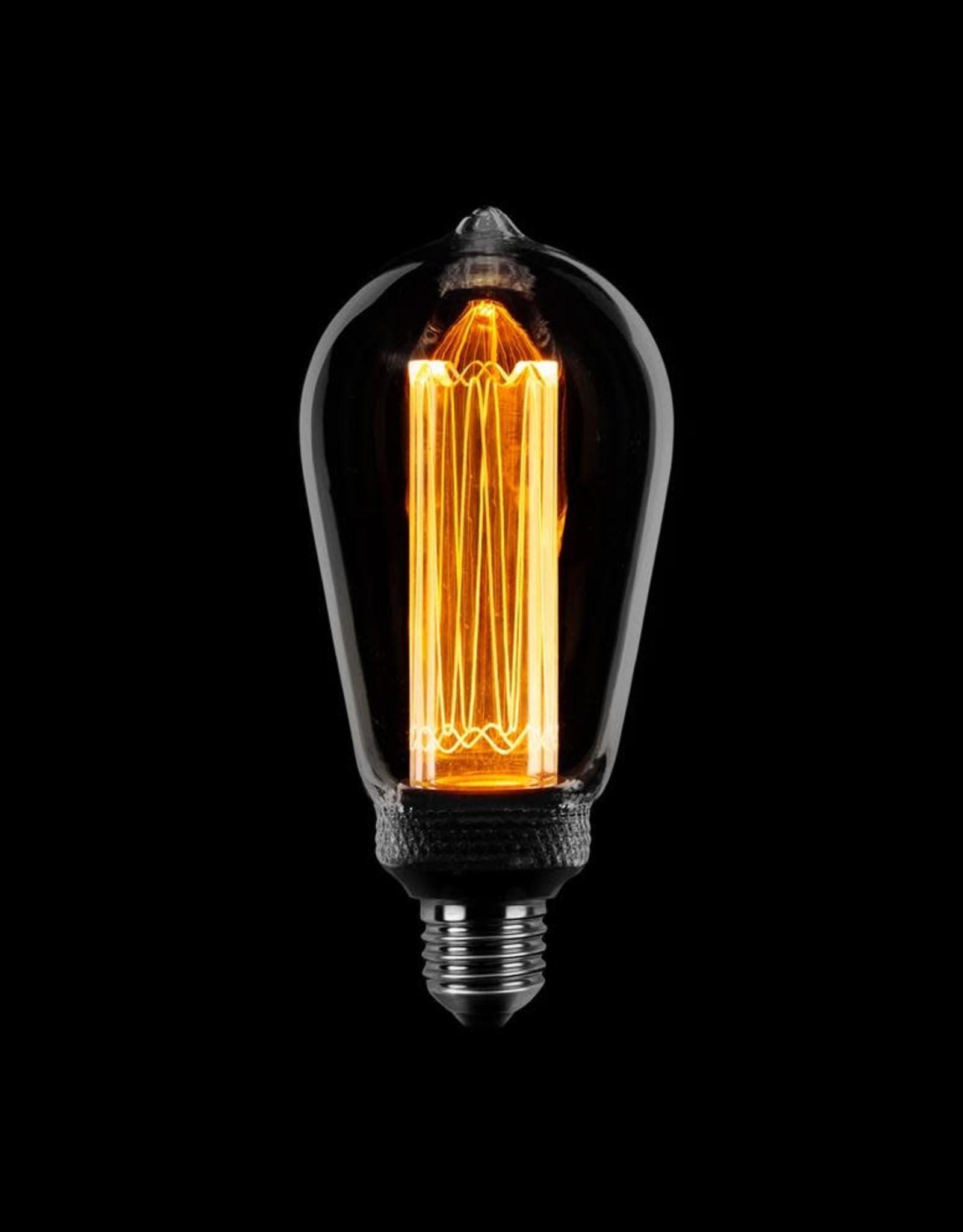 Lamp Edison kooldraad LED 3 stappen dimbaar smoke E27