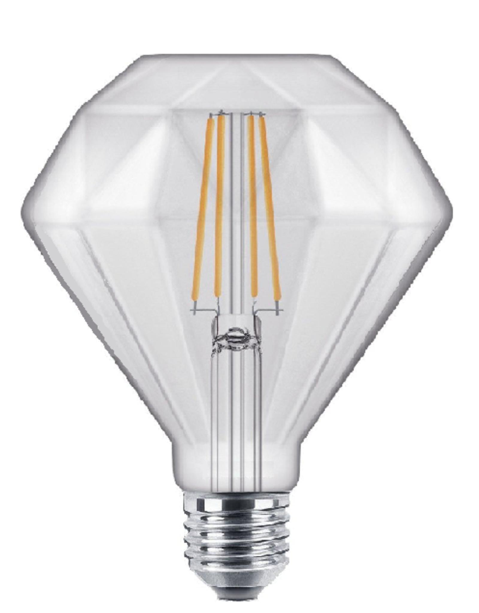 Filament LED Diamant  E27  Helder