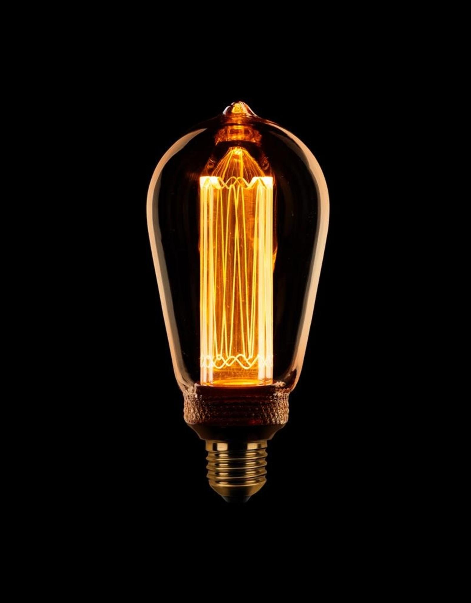 Lamp Edison kooldraad LED 3 stappen dimbaar goud amber E27