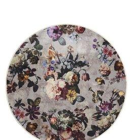 Vloerkleed Fleur Finest Grijs Ø90 cm