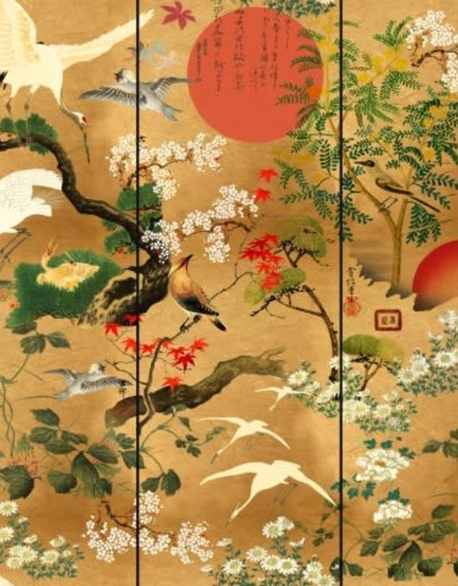 Behang Byobu - 156 x 300 cm