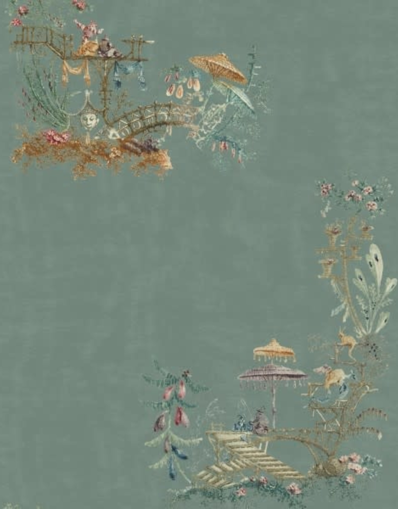 Behang Chinoiserie Blue - 156 x 300 cm