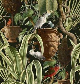Behang Exotic Menagerie Dark - 156 x 300 cm