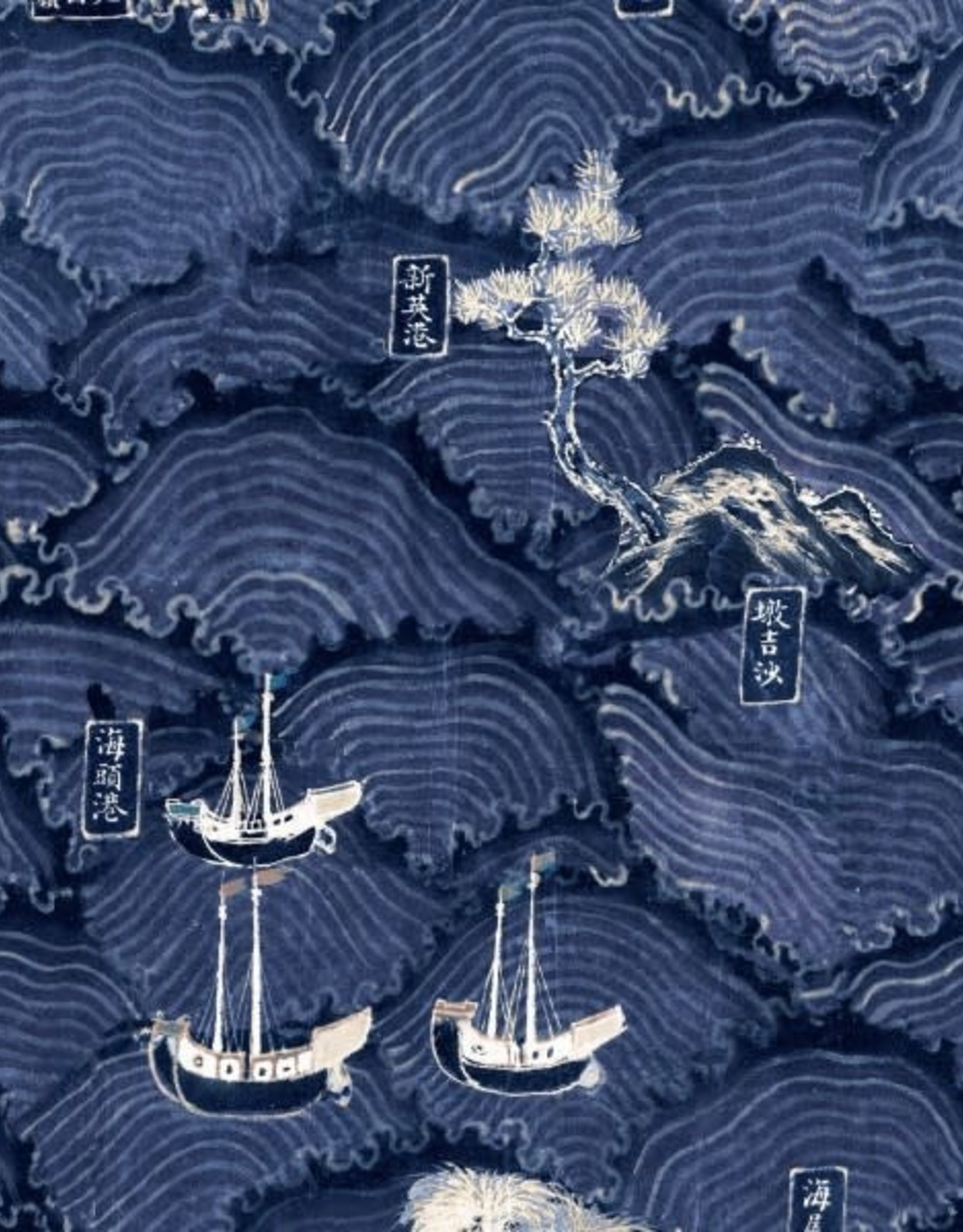 Behang Waves of Tsushima - 156 x 300 cm