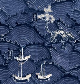 Behang Waves of Tsushima - 156 x 300 cm