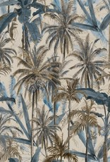 Behang The Jungle Smoke Blue - 156 x 300 cm
