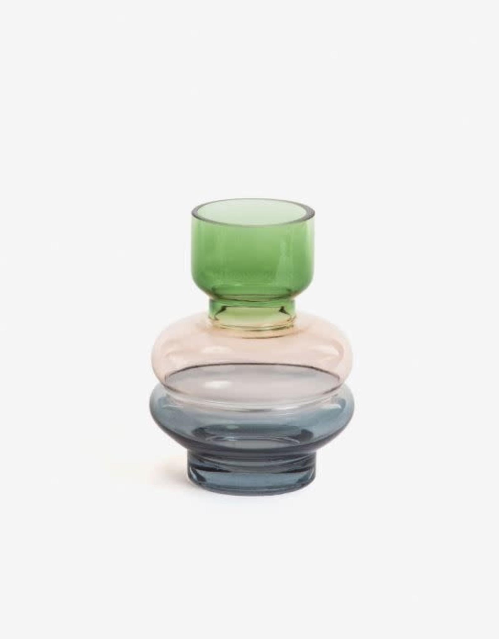 Vaas Coloured Glass - green/pink/blue