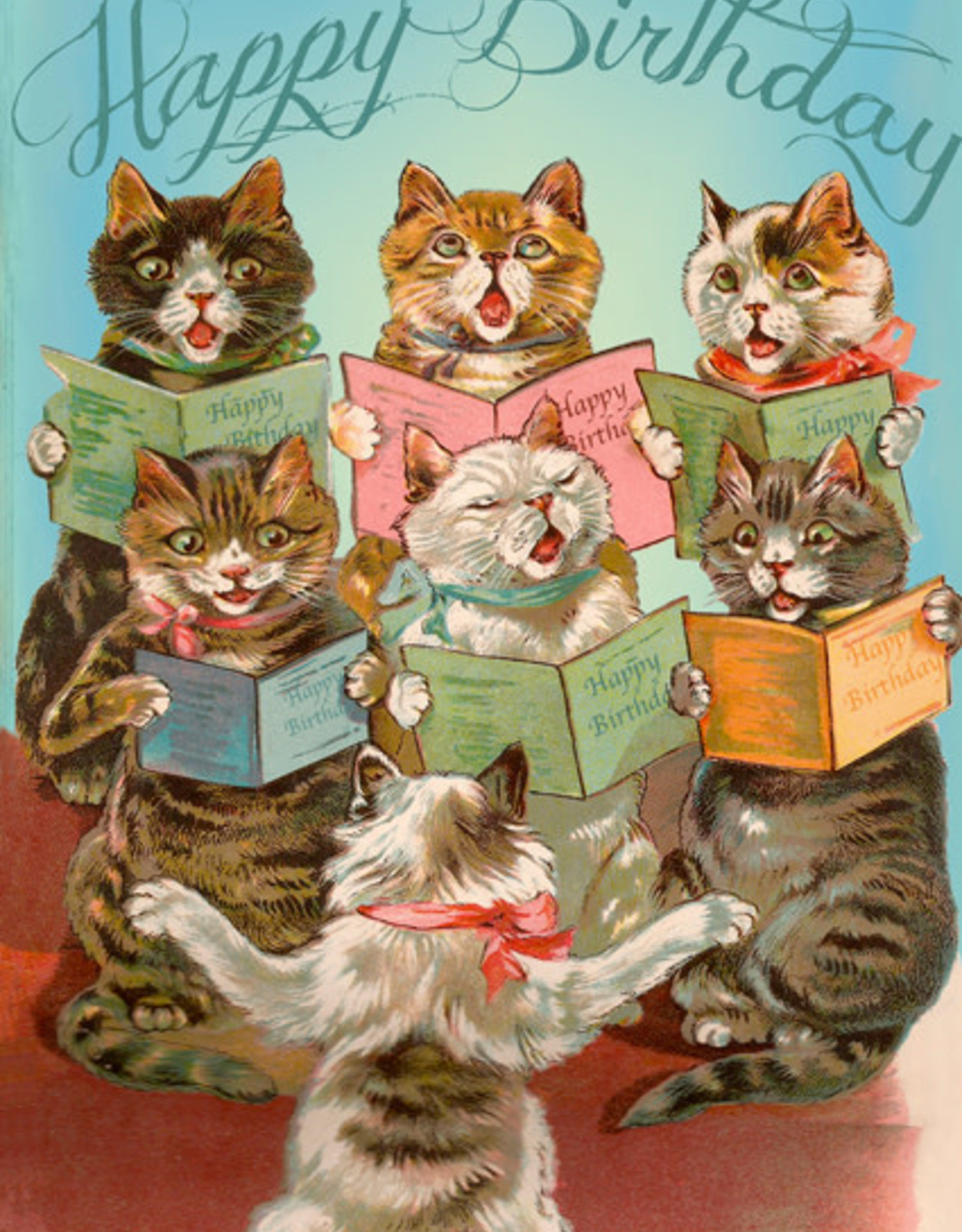 Madame Treacle Kaart 'Happy Birthday' - Singing cats
