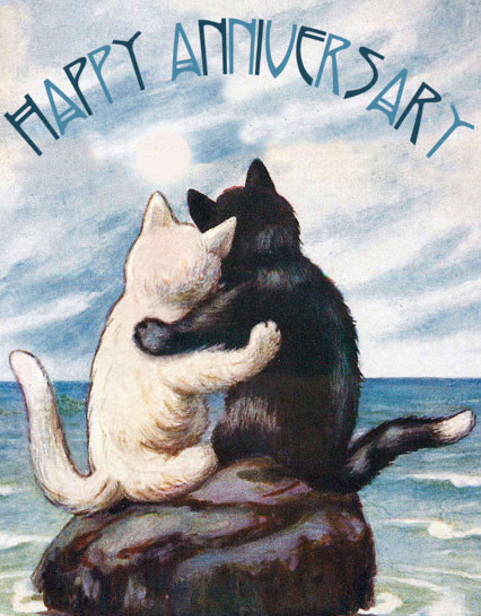 Madame Treacle Kaart 'Happy Aniversary' - Cats