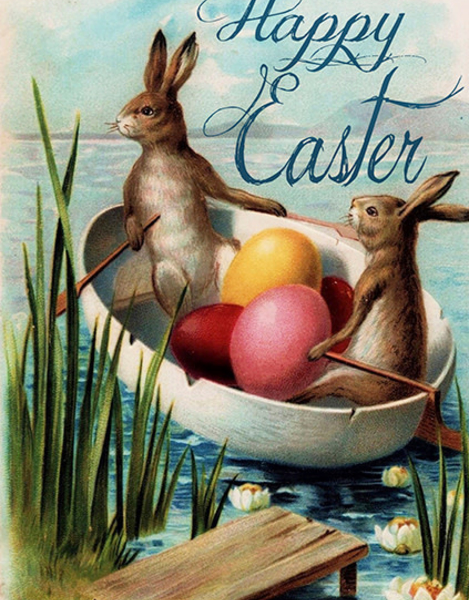 Madame Treacle Kaart groot 'Easter on the river'
