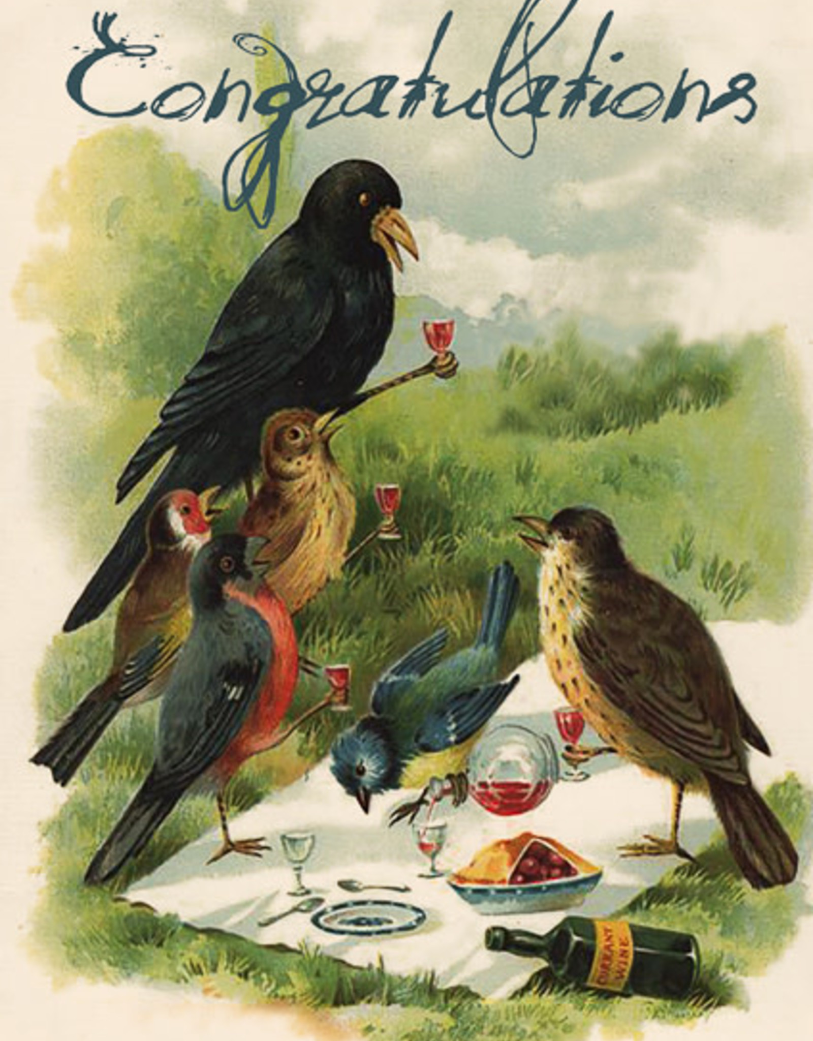 Madame Treacle Kaart 'Congratulations' - Bird Picnic