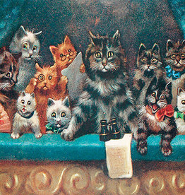 Madame Treacle Kaart vintage petite 'Cats at the theatre'