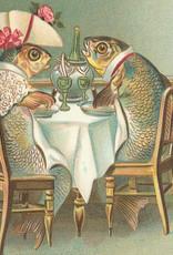 Madame Treacle Kaart vintage petite 'Fish Dinner'