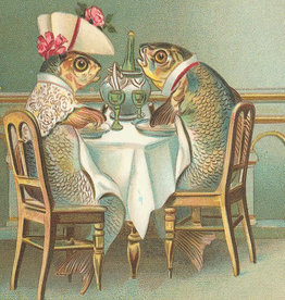 Madame Treacle Kaart vintage petite 'Fish Dinner'