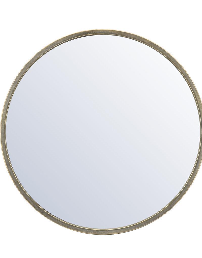 Spiegel met gouden rand Ø80 cm