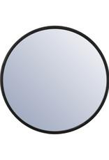 Spiegel met zwarte rand Ø60 cm