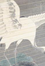 Wanddeco rond Crane Ø45 cm