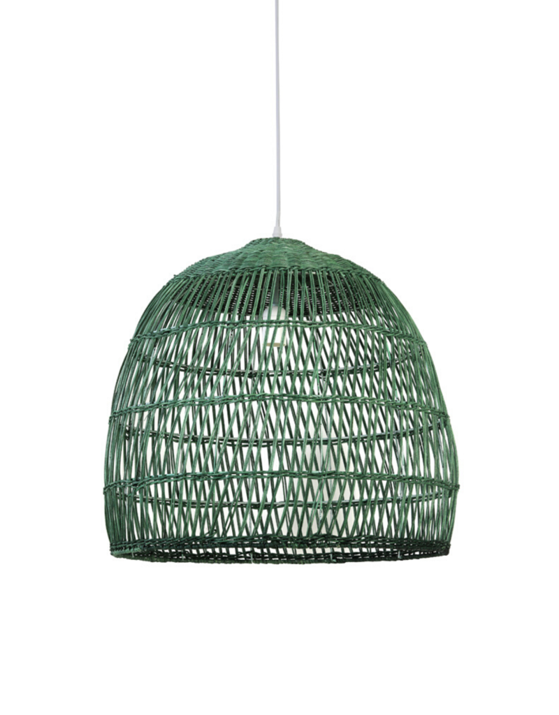 Hanglamp Green Wicker