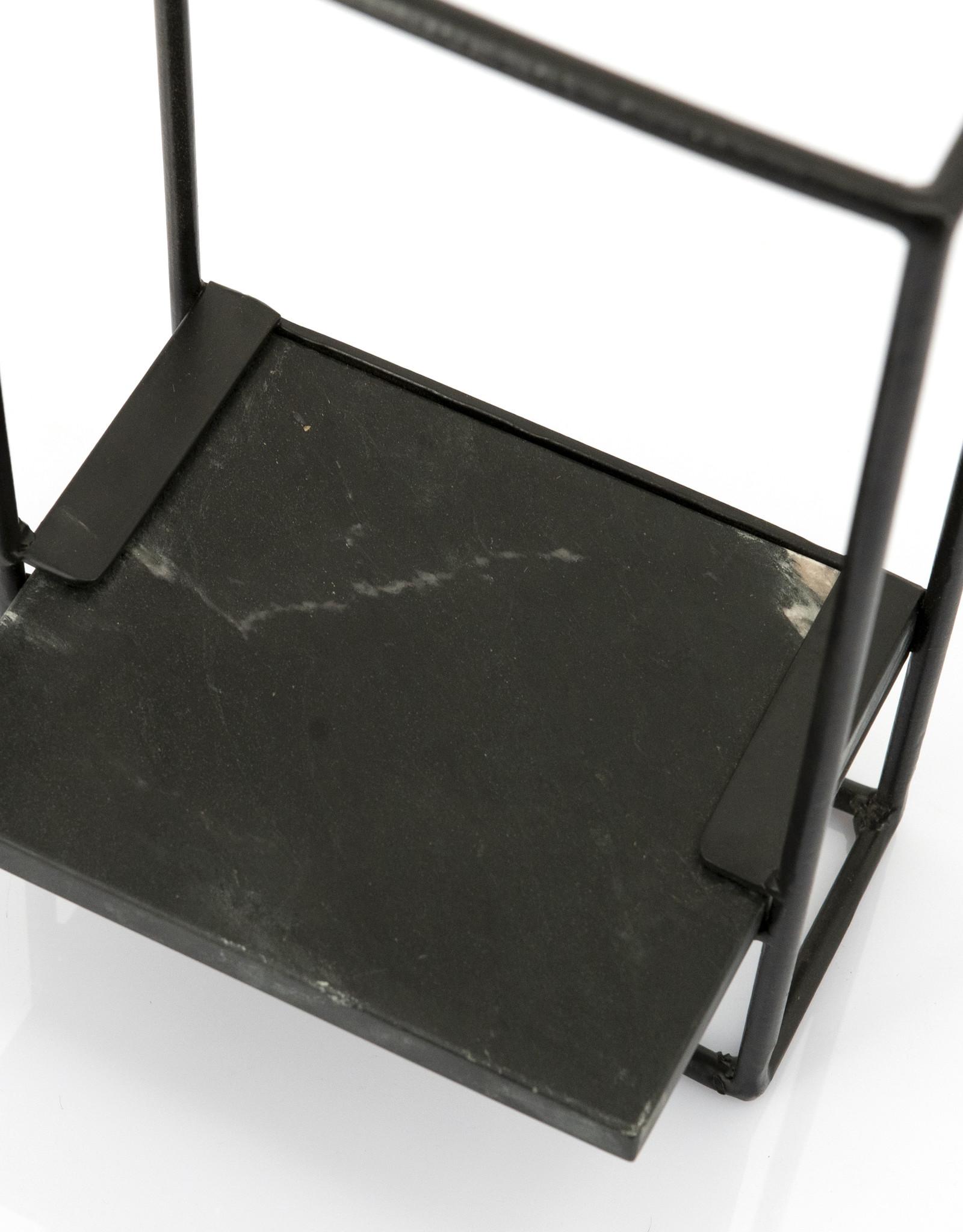 Wandrek zwart marmer S