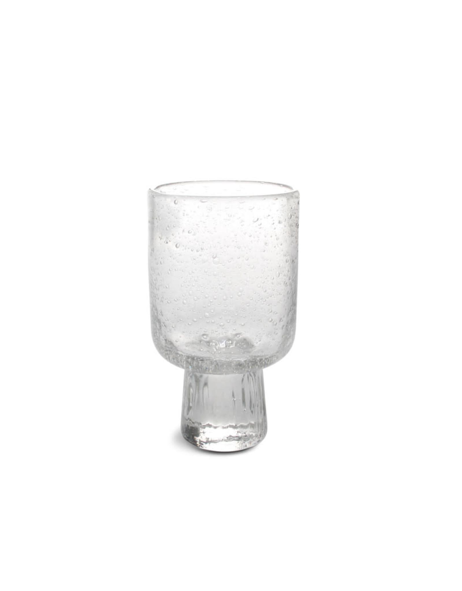 Glas op voetje - Bubble