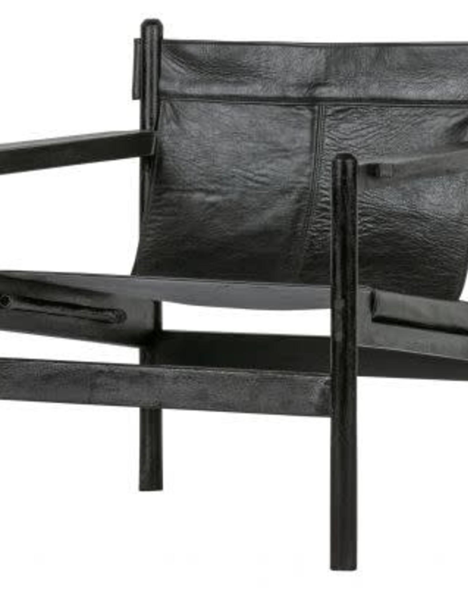 Fauteuil Pepino Leder - zwart