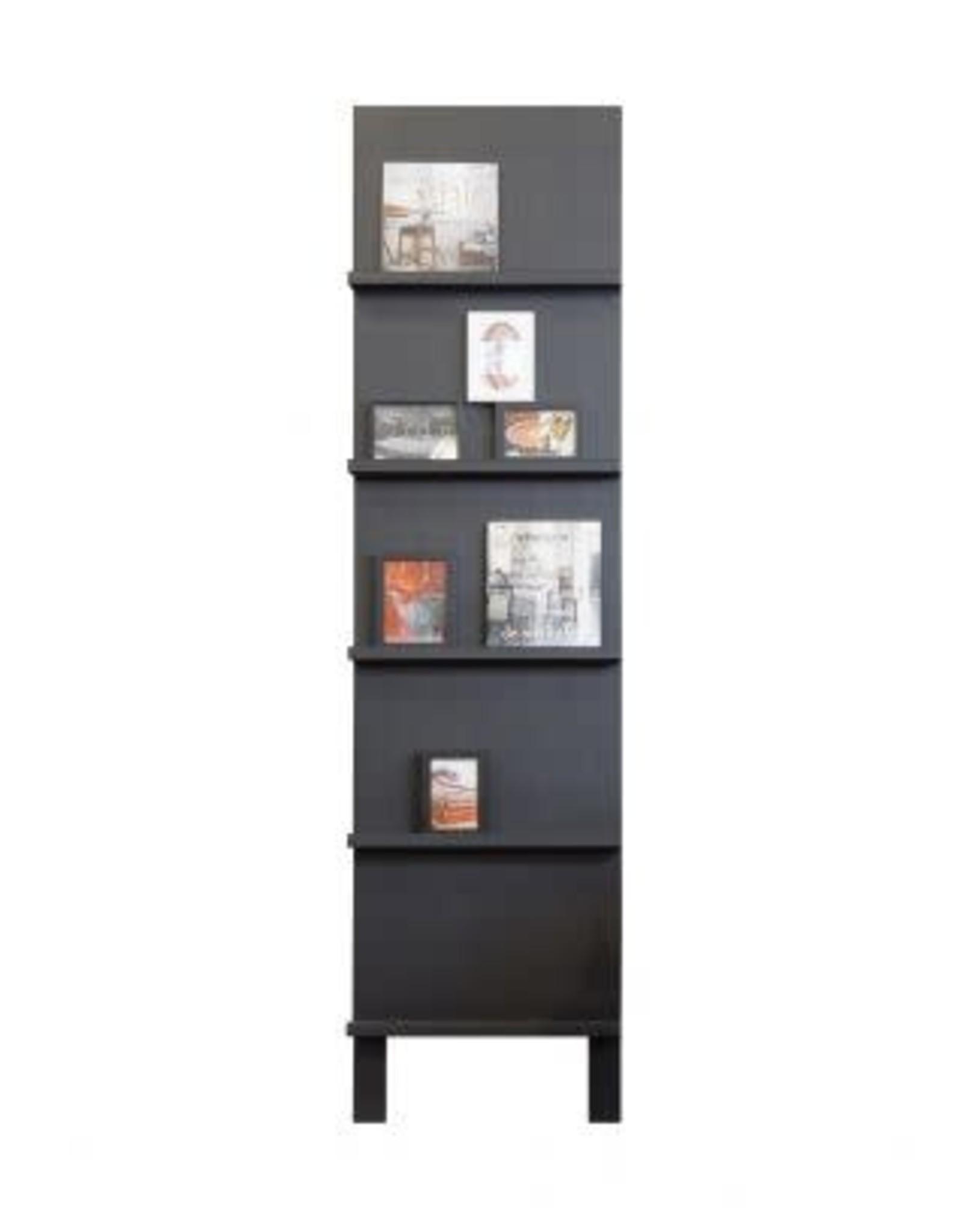 Boekenrek / Magazinekast - Zwart grenen