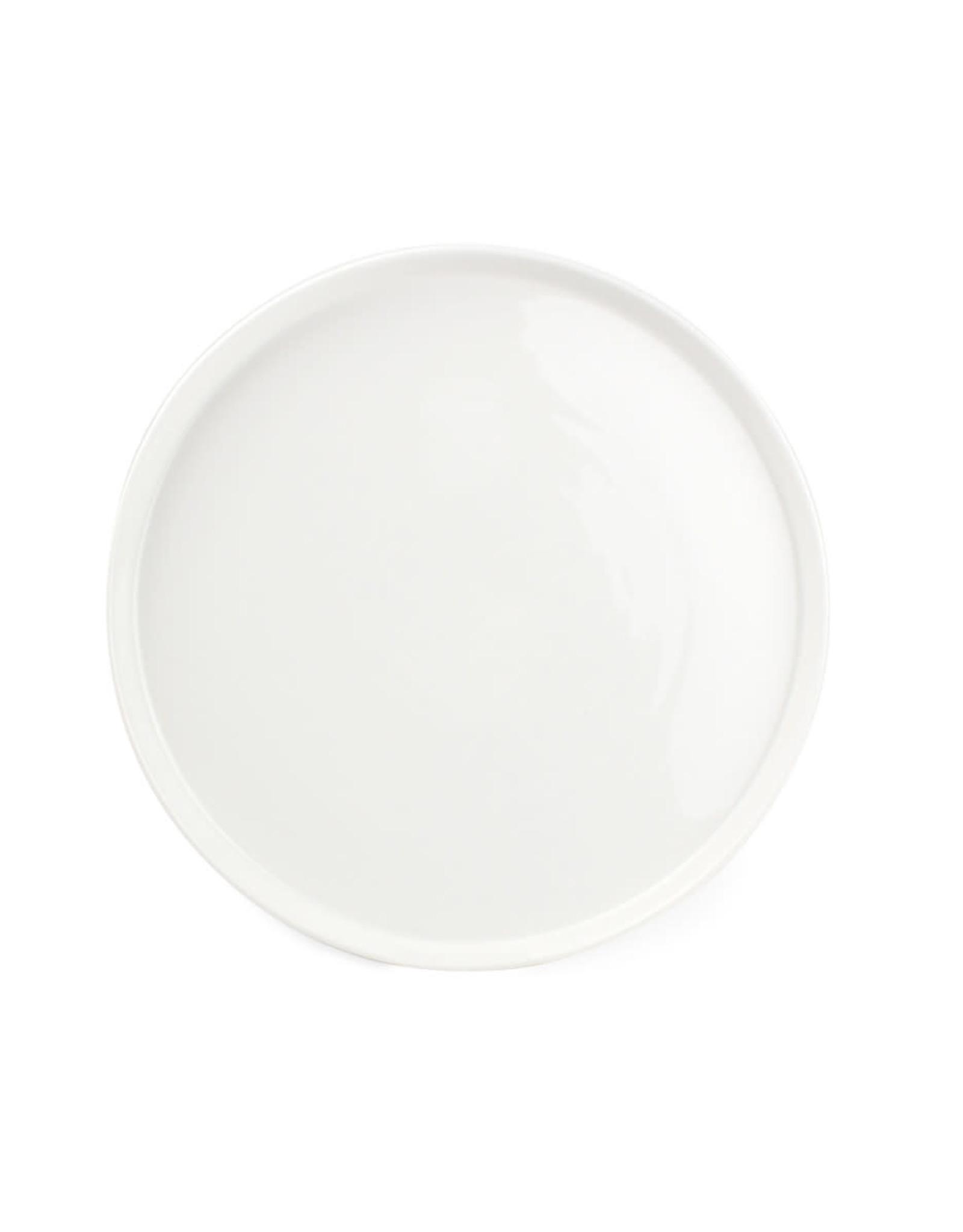 Bord Ø26,5 cm wit porselein met rand