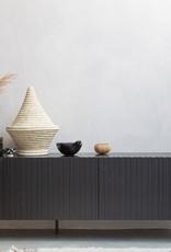 TV-meubel in zwart grenenhout
