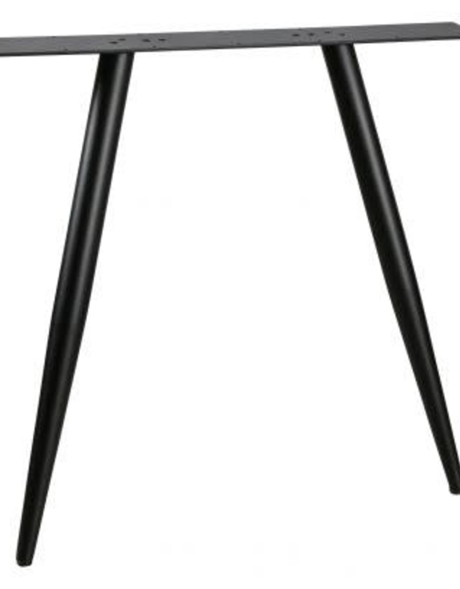 Tafelpoten set v 2 Modulair  - conisch zwart metaal
