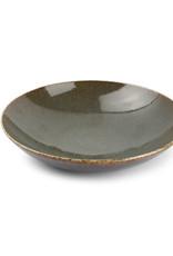 Diep bord Green Ombre Glaze