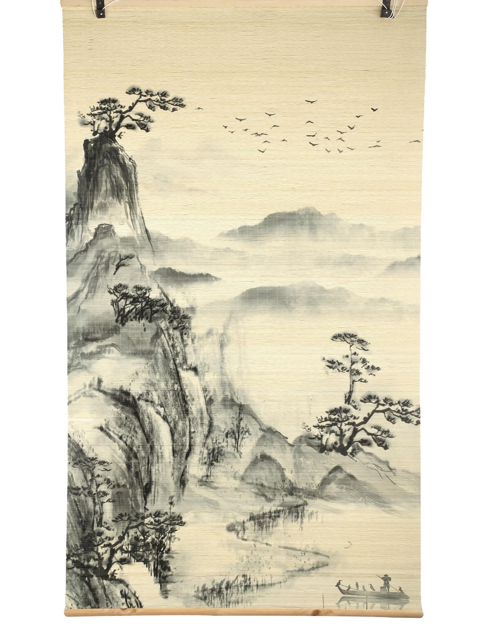 Wanddeco/Gordijn Bamboo Mountain