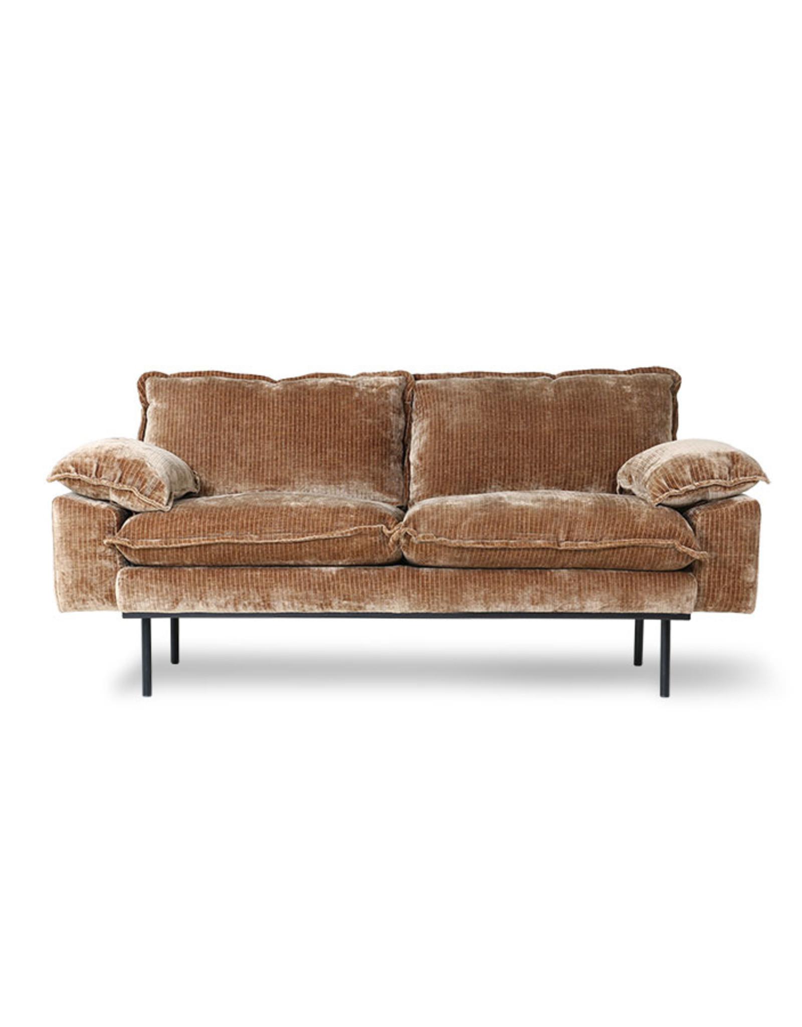 HK Living Retro Sofa 2-zitsbank (8 stoffen/kleuren)