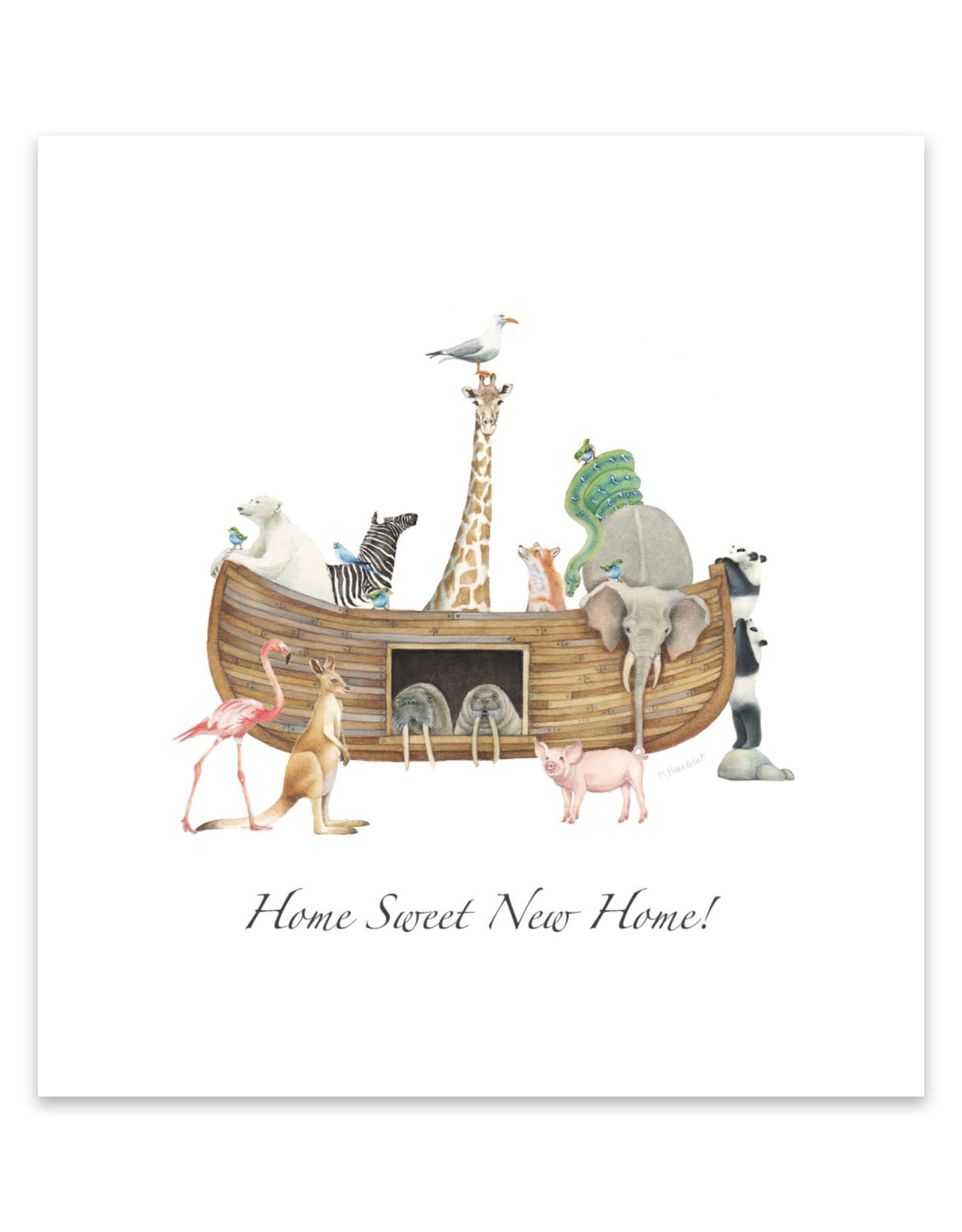 Wishingwell Wenskaart 'Home sweet new home' ark