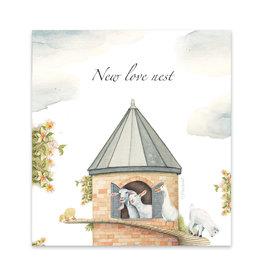 Wishingwell Wenskaart 'New love nest' Goats