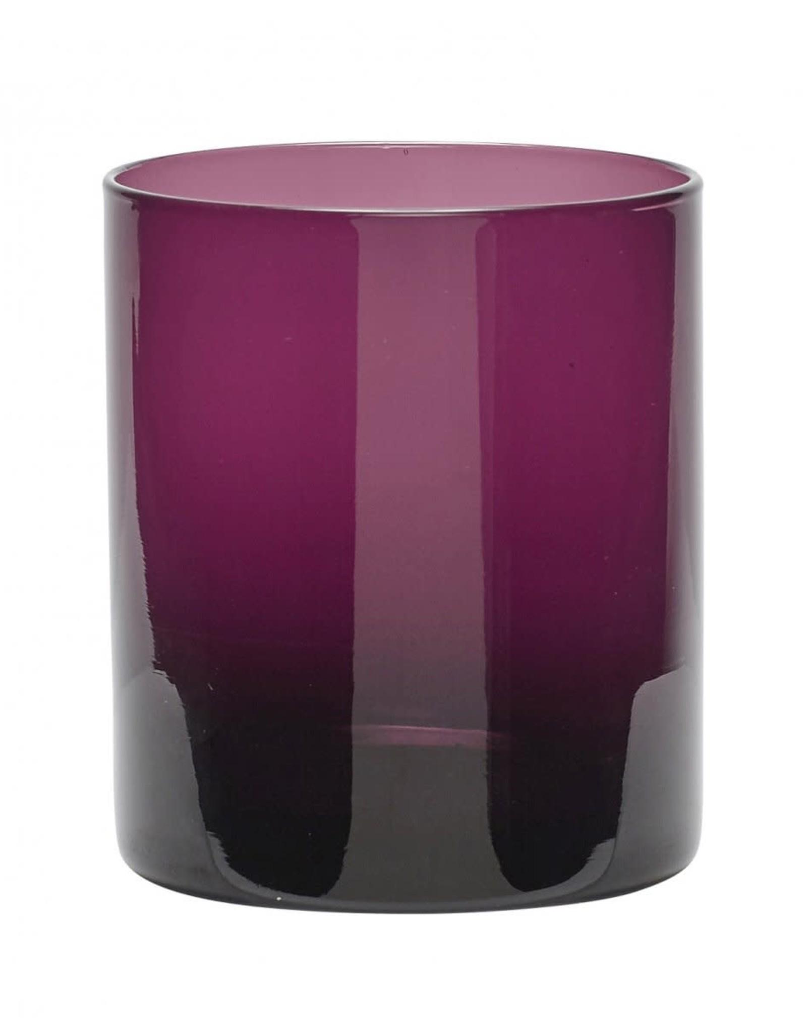 Hübsch Theelichthouder Purple Glass