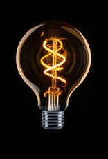 LED Lamp Globe 8 cm Filament spiraal LED 2W
