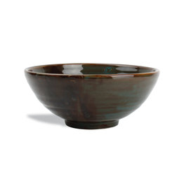 Kom Green/Brown keramiek Ø19,5 cm