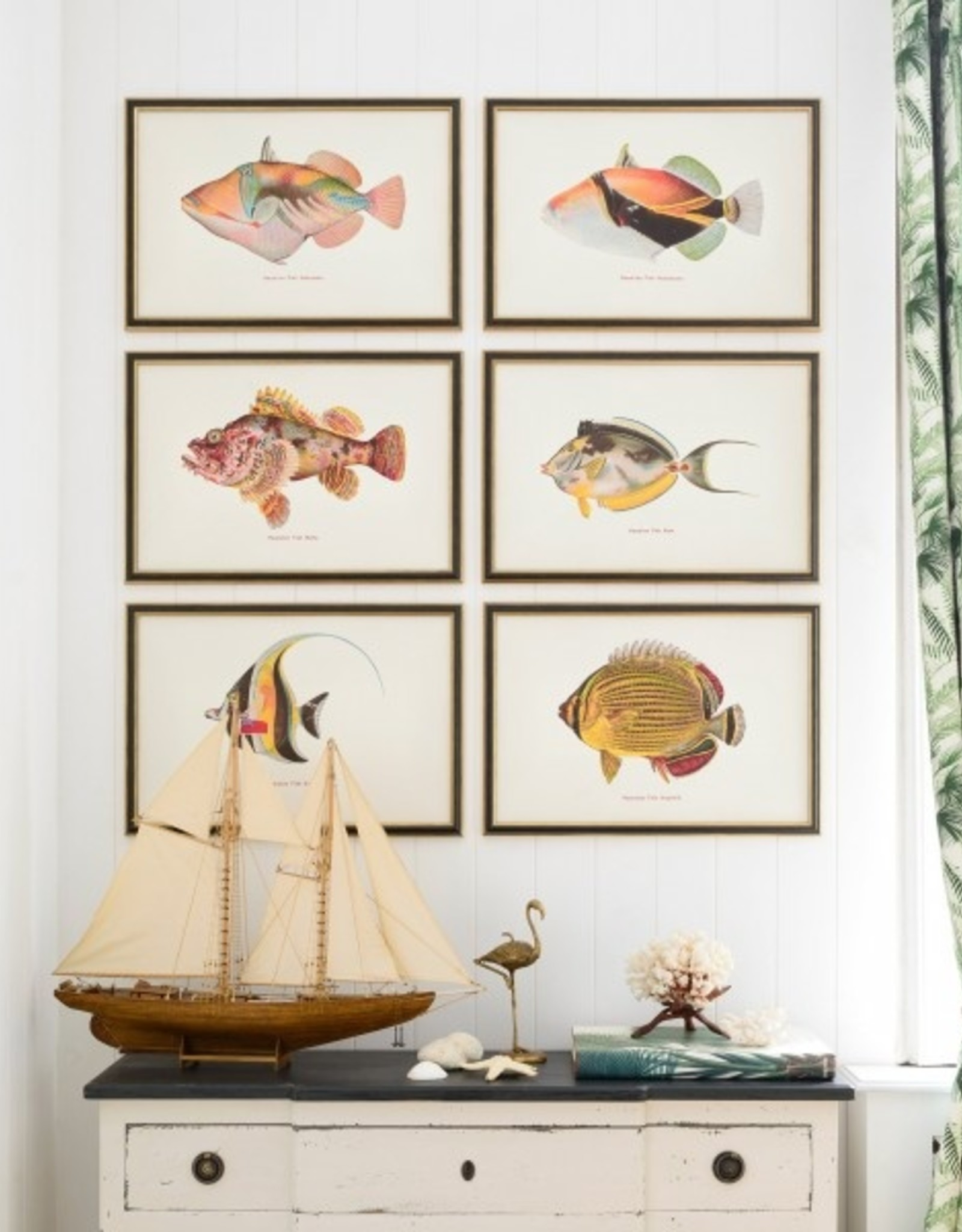 Mind the Gap Framed Art 60 x 40 cm - Fishes of hawaii - Kapuhili Fish Fish