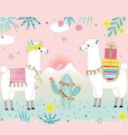 Servetten 33x33 cm - Pastel Llamas