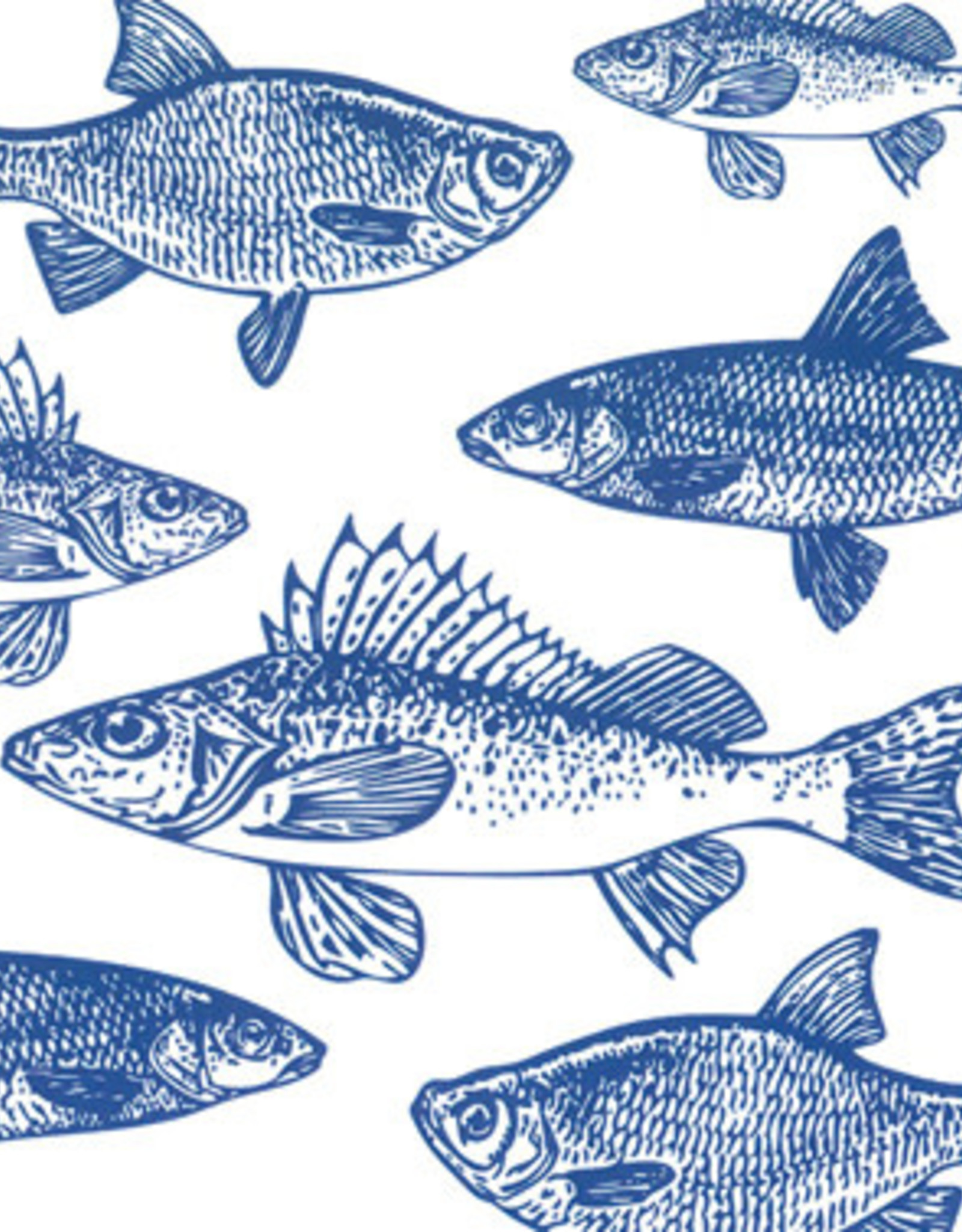 Servetten 33x33 cm - Graphic Fishes Marine