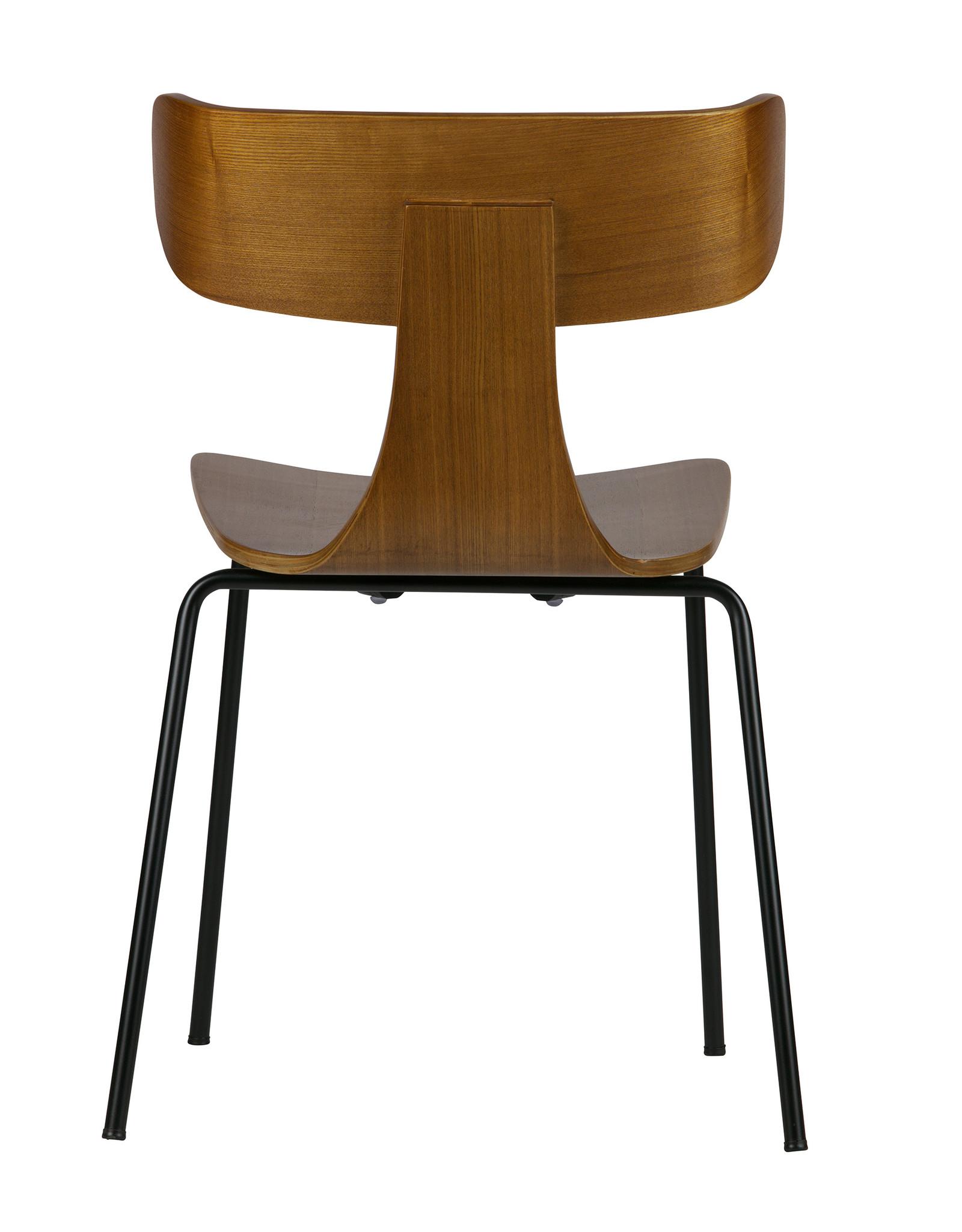 Houten stoel Form - bruin