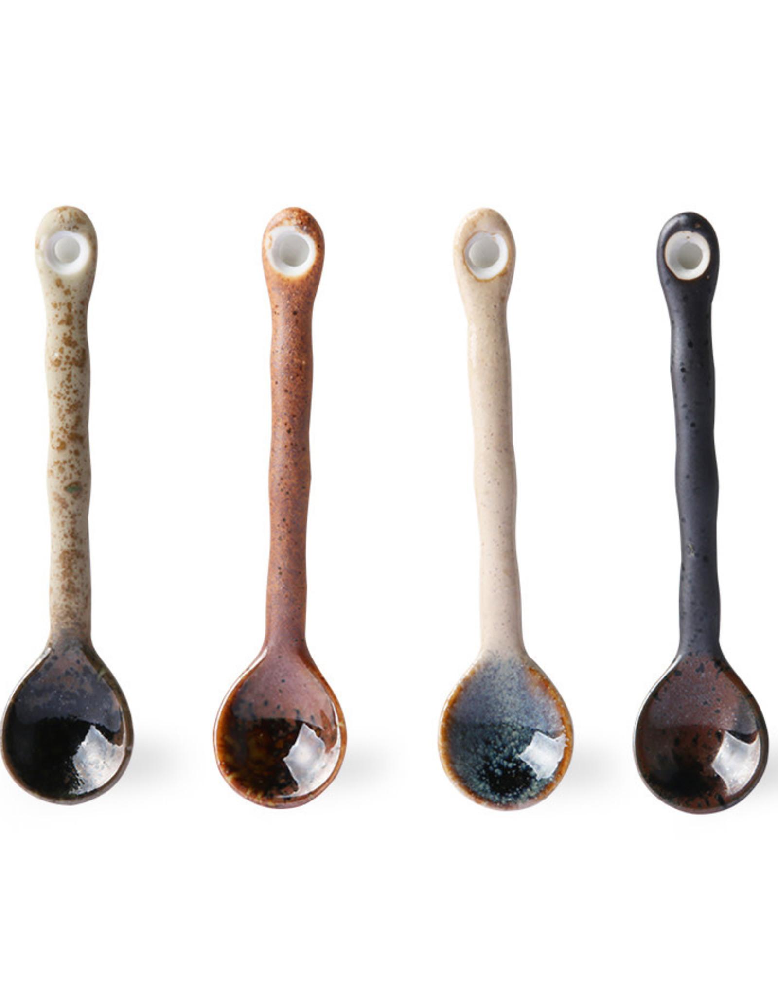 HK Living Set v 4 Japanse Theelepels - Kyoto Ceramics