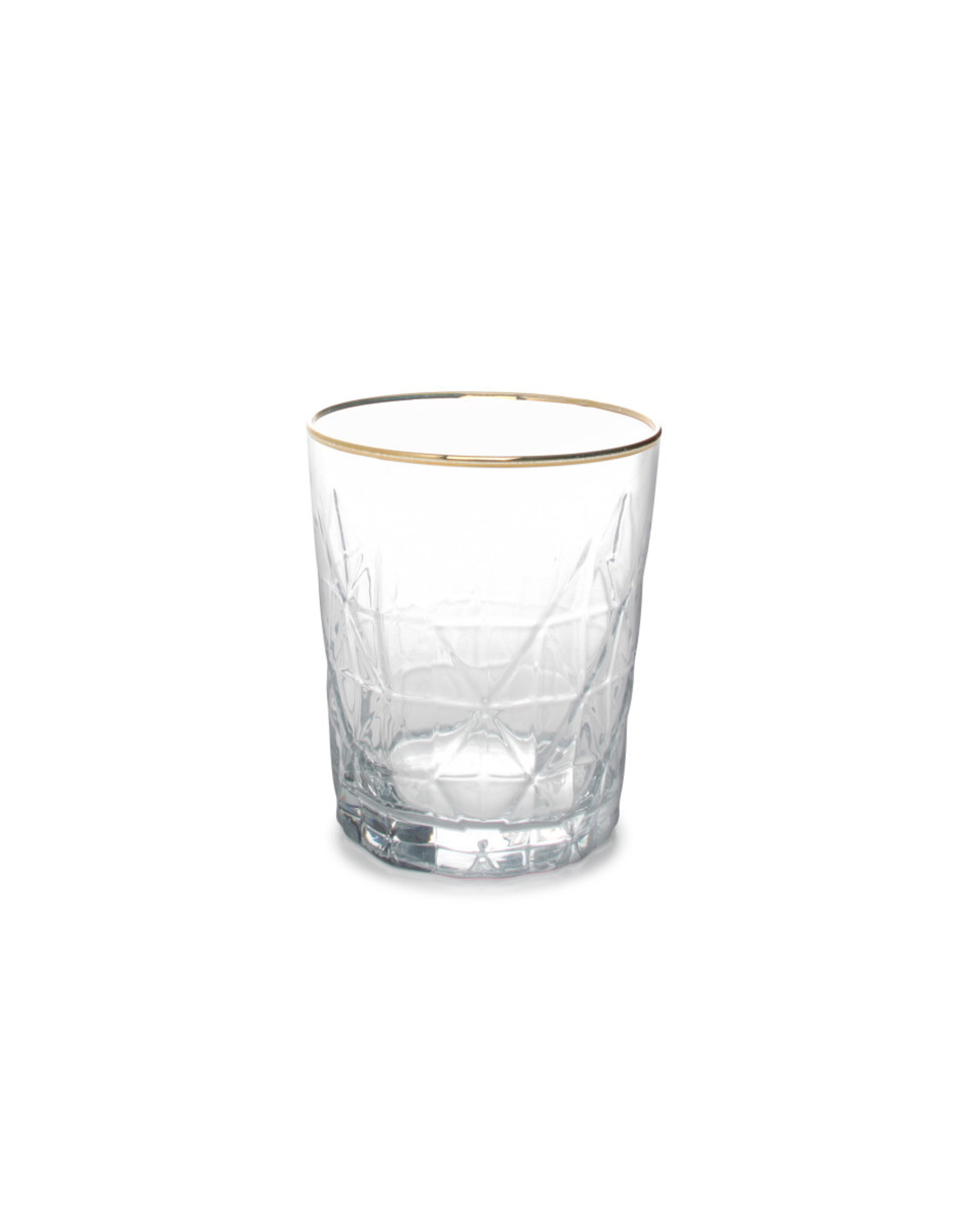 Set van 6 Glazen met gouden randje