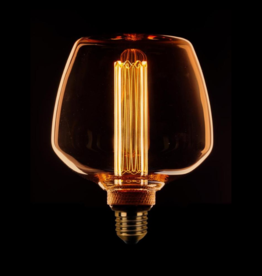 Lamp LED Kooldraad 3 standen - Trapezium Amber/Goud E27