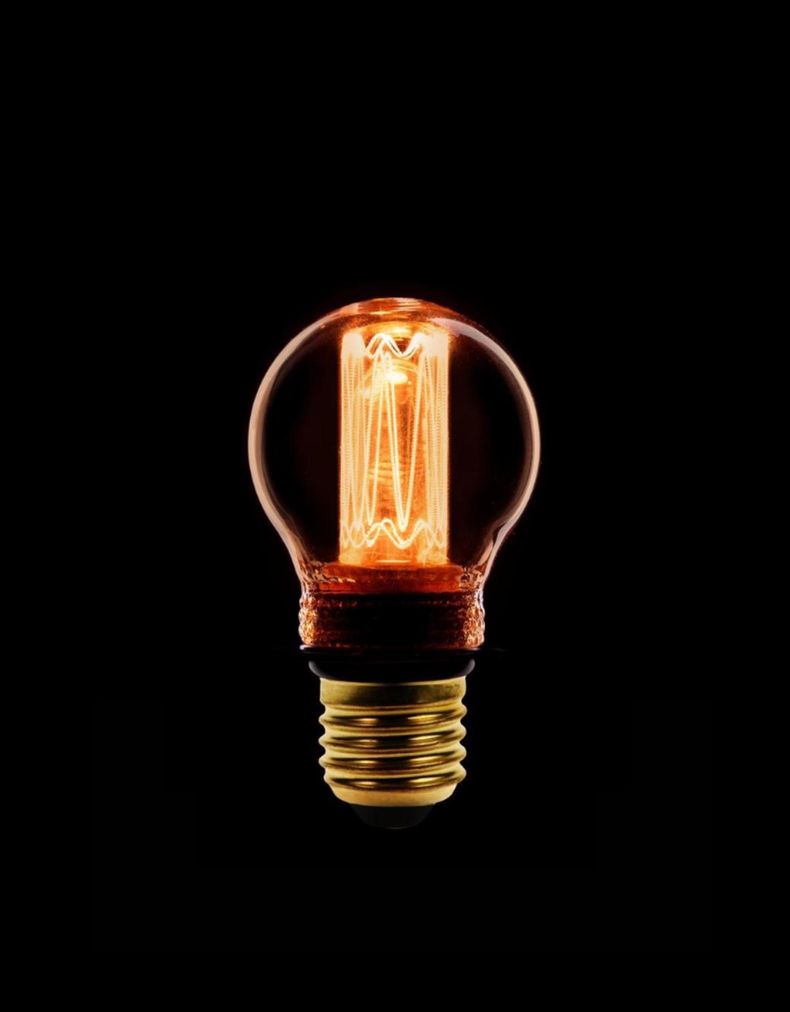Lamp LED kooldraad dimbaar - Kogel Amber/Goud E27
